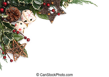 Jingle bell Christmas frame - Christmas border with jingle...