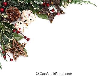 Jingle bell Christmas frame