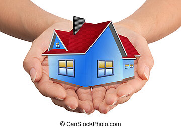 The House in the hands as a symbol of the real estate...