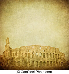 vintage image of coliseum