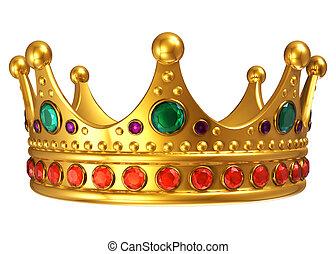 Doré, royal, couronne