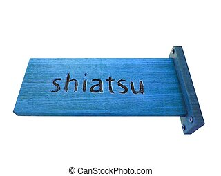 Shiatsu - shiatsu center sign