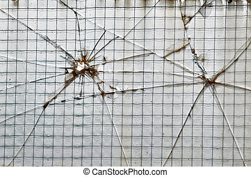 smashed wire glass squares background