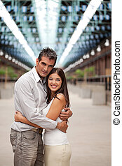 Couple Hugging Each Other - Portrait of happy loving couple...