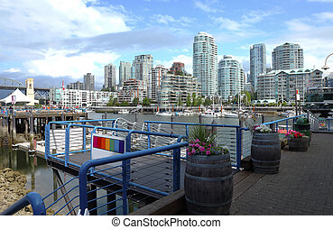 Ferries terminal in Granville island Vancouver BC - A ferry...