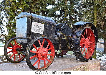 Old tractor early 20 century, Pinsk, Belarus