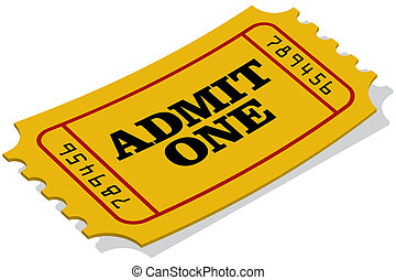 Ticket - A yellow admission ticket