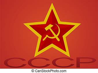 The Soviet Union - Star, hammer and sickle - a symbol of the...
