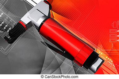 Air nibbler - Digital illustration of air nibbler in colour...
