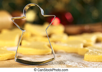 Angel-shaped cookie cutter