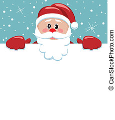santa holding blank paper
