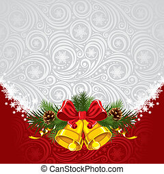 Christmas background - Christmas ornate background with gold...
