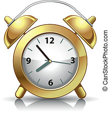 Alarm Clock - Classic alarm clock. Vector illustration.