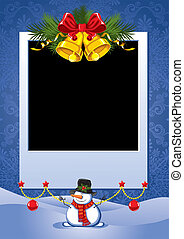 Christmas photo frame - Three Christmas Photo Frame with...
