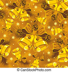 Christmas bells seamless pattern