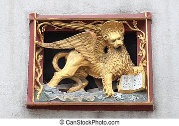 Winged lion - Saint Mark Evangelist symbol