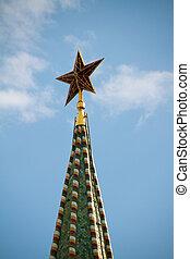 The Saviour (Spasskaya) Tower of Moscow Kremlin, Russia.