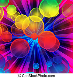 colorful bubble explosion - more similar available