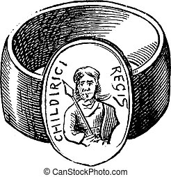 Children finger ring of roman period vintage engraving - Old...