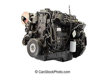 car engine - The image of car engine under the white...