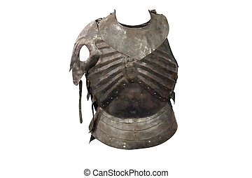 cuirass - The image of cuirass under the white background