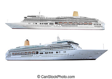 ocean ships - The image of ocean ships under the white...
