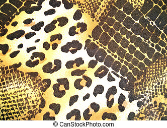 Animal skin pattern - Texture of various animal skin in...