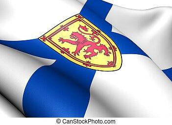 Flag of Nova Scotia, Canada. Close up.