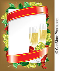 festive background vector - festive background with a glass...