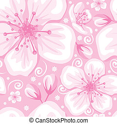 Seamless spring background - Seamless gentle spring flower...