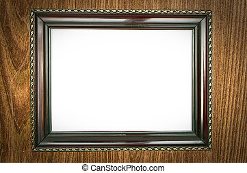 Vintage wood frame on grunge background