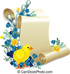 Easter vintage background