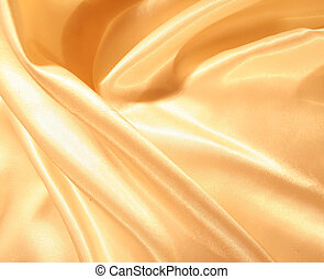 Smooth elegant gold satin as background - Smooth elegant...