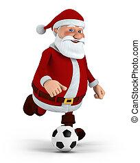 fussball, spielende,  santa