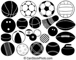 Different Game Balls - Different game balls isolated on...