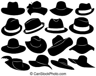 Hats Illustration - Hats illustration isolated on white