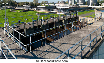 waste water plant - part of a waste water plant where the...