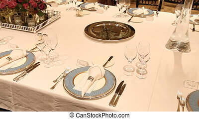 Elegant dinner table setting 7 - Elegant candlelight dinner...