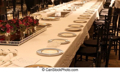 Elegant dinner table setting 5 - Elegant candlelight dinner...