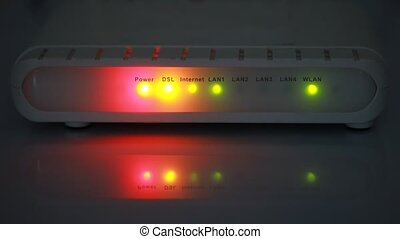internet modem light