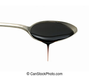 Teaspoon of treacle on white