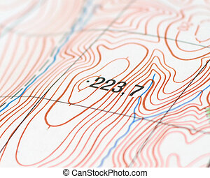 topographic map - Part of the topographic map