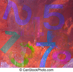 abstract grunge style background with numbers