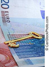 Golden euro key