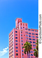 beautiful historic buildings in Miami in the Art deco...