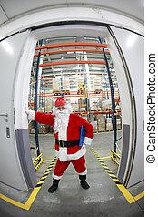 Santa Claus gate keeper