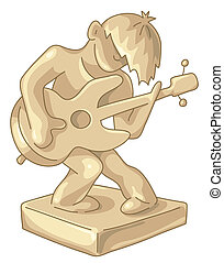 Golden statuette of guitar player - Golden award to the best...