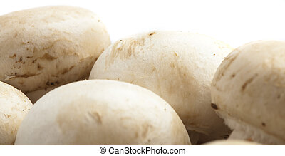 mushrooms - delicious mushrooms stack on white background,...