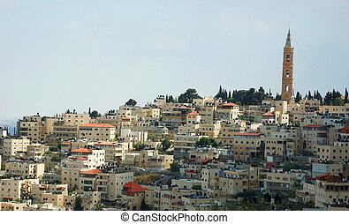 vista, santissimo, cidade, Jerusalém, Israel