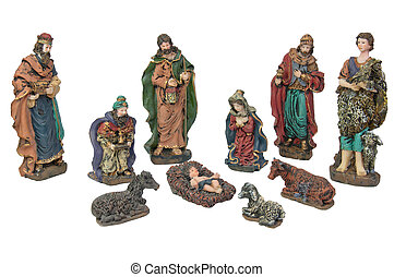 Nativity Scene - Picture of Christmas Nativity scene made of...